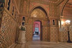 Entrance of Tukish Room from Mauritanian Parlor in Yusupov Palace. Saint Petersburg, Russia.