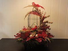 Arreglo floral de seda de Navidad por CreeksideCreationsVA en Etsy