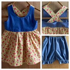 Boho Summer Dress with Bloomers, size 3t by SewMeems on Etsy