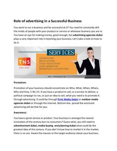 Role of advertising in a Successful Business Digital Media Marketing, Advertising Services, Video Studio, Successful Business, Best Sites, 3d Animation, Lead Generation, Uae, Planning