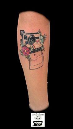 Realistic tattoo # traditional tattoo # neo traditional tattoo # tattoo idea # polaroid tattoo #carlofuertetattoo