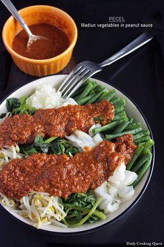 Pecel - Madiun Vegetables in Peanut Sauce