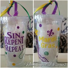Check out this item in my Etsy shop https://www.etsy.com/listing/213020421/new-orleans-style-mardi-gras-tumbler