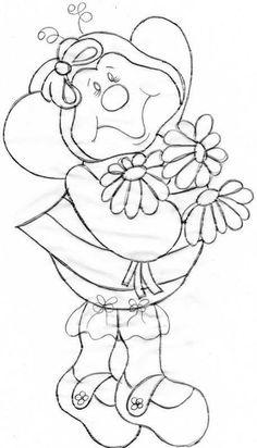 Abelha com Flores