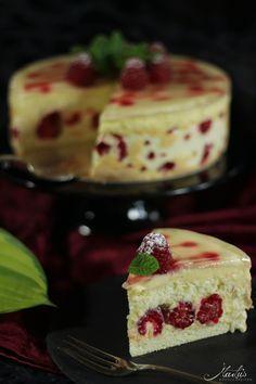 Le Framboisier  gâteau aux framboises à la crème de vanille