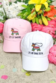 Bachelorette party funny - It's My Final Fiesta Let's Get Smashed Embroidered Bachelorette Party Dad Hats – Bachelorette party funny Bachelorette Cruise, Bachelorette Party Shirts, Bachelorette Party Decorations, Bachelorette Parties, Dad Hats, Fiesta Party, Party Hats, Party Wear, Fiesta Outfit