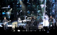Muse take to the stage at AsiaWorld-Expo on September 28, 2015. Photo: Robin Fall/SCMP