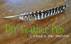 How to Make a Feather Pen (using a real feather and no ink well)