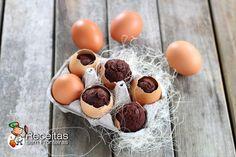 Muffins de chocolate de Páscoa