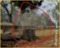 "HOODED GHOST! Brooke writes, ""Here are some more pics that I took at Jacksonville Cemetery in Alabama. These really scared me when I saw the pics. They were not there when I took the pictures. At the time, I was alone & got a really strange & creepy feeling, so I snapped a few more pics, then took off walking very fast! These were taken with a Fuji Disposable Camera with 400 speed film. They were cropped from a bigger picture. If you like, I can send the originals. Respectably, Brooke"""