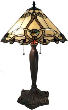 tiffany style lamps | of Tiffany Tiffany Style Amber Octavion Table Lamp Table…