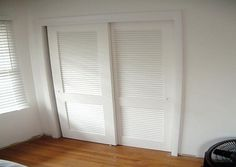 Lovely Sliding Louvered Closet Door