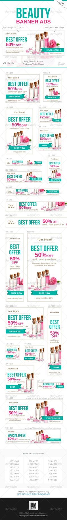 Beauty Banner Ads - Banners & Ads Web Template PSD. Download here: http://graphicriver.net/item/beauty-banner-ads/7675465?s_rank=38&ref=yinkira