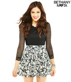 Daisy Skater Skirt from Bethany Mota Collection at Aeropostale♡
