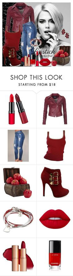 """""""Beauty"""" by alice-fortuna ❤ liked on Polyvore featuring beauty, Rimmel, Barbour International, Michael Kors, Nearly Natural, MABEL, Lizzy James and Lime Crime"""