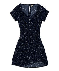 Another great find on #zulily! Ink Speckle Button-Up Dress by TIMEOUT #zulilyfinds Perhaps w footless tights?