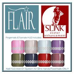 Flair - Nail Hud Add On - Slink Avatar Enhancement - Set 24