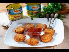 Deliciosa y sencilla receta de nuggets de atún. Imprime la receta en:http://cocinaycomparte.com/recipes/nuggets-de-atun-dolores Suscríbete a este canal: http...