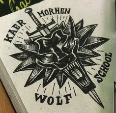 Witcher 3 emblem wolf school