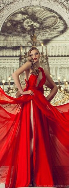 Drapes of Red