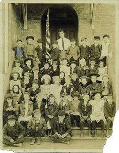 Unknown school photo Pratt, Kansas Class Picture circa 1890 by brentramsey.com, via Flickr