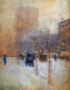 Late Afternoon, New York, Winter, 1900  Childe Hassam