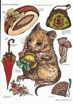 Dorothy Doormouse paper doll by Evelyn Gathings