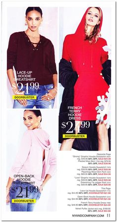 New York & Company Black Friday 2017 Ad Scan, Deals and Sales New York & Company's 2017 Black Friday ad is here! Starting on Wednesday, November you can get up to off everything in-store and online. Black Saturday, Black Friday Ads, Best Black Friday, Pleated Maxi, Hoodie Dress, Slim Pants, New York And Company, Hoodies, Sweatshirts