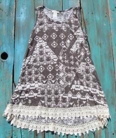 Crochet Knit Aztec Top