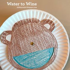 Water to Wine Sunday School Projects, Sunday School Kids, Sunday School Lessons, School Ideas, Preschool Bible Lessons, Bible Crafts For Kids, Preschool Crafts, Prayer Crafts, Kids Klub