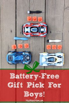 Battery-Free Modarri Cars Teach Boys Mechanics - Holiday Gift Pick! {+ Modarri Giveaway!}