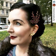 """""""Perfect!#Repost @missrockabully with @repostapp. ・・・ Love, love, love the hairpiece from @janaroyaledesign  So fashionable perfect for this evening!❤️ #pinup #pinupgirl #pinuplook #janaroyaledesign #retro #retrohair #vintage #vintagehair #hairpiece #fall #autumn #grünerløkka #birkelunden #manillusion #modernpinup"""" Photo taken by @janaroyaledesign on Instagram, pinned via the InstaPin iOS App! http://www.instapinapp.com (10/08/2015)"""