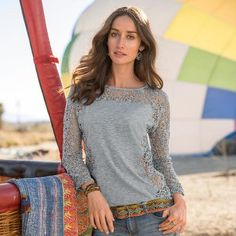 Lily's Paramour Top in Haze - Sundance Catalog