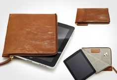 As laptop cover, folder or ipad cover from someone else. Leather envelope plus zip. nice and simple.