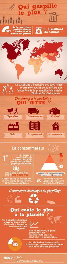 TOUCH this image: Gâchis alimentaire : Qui gaspille le plus ? by Léa Ducré