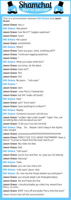 A conversation between Jason Grace and Will Solace