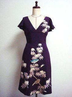 着物リメイクの洋服・ワンピース・ドレスの作り方(リホーム リフォーム 型紙 ブログ 画像 本 - NAVER まとめ