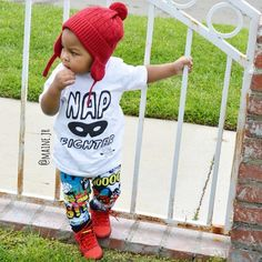 """""""I love seeing all of the creative superhero themed shirts & accessories paired with our Comic Splash joggers  thank you for sharing @maine.jr …"""""""