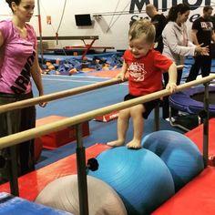 Yoga Ball Moon Walk – Recreational Gymnastics Pros