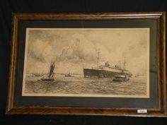 Lot # : 1323 - Norddeutscher Lloyd SS Bremen Ocean Liner Print