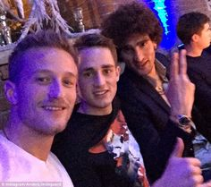 Lindegaard and Fellaini were 'looking after' 19-year-old Adnan Januzaj at the dinner