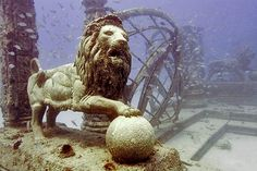 Under water cemetery.     Instead of spreading ashes over ocean waters, at Neptune Memorial Reef the ashes of loved ones are mixed with cement designed for underwater use and fitted into a mold, which a diver then places and secures into the reef. A copper and bronze plaque is installed with the person's name, date of birth and death.