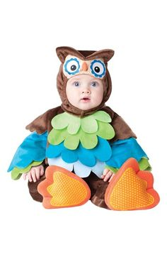 InCharacter Costumes 'What a Hoot' Owl Jumpsuit & Hat (Baby) available at #Nordstrom