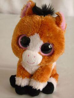 "Ty Beanie Boos Dakota 6"" horse original 2012 rare and retired Big Eyes #Ty"