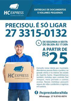 MOTOBOY HC EXPRESS www.hcexpress.com.br 27 3315-0132 #motoboy #equipehcexpress #motofrete #vitoriaes #capixaba