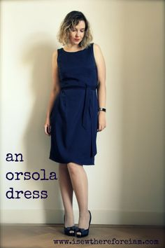 Check out my latest blog post about the brand new Orsola wrap dress sewing pattern from By Hand London, made up in a soft navy tencel