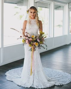 These wedding dress trends were everywhere at Spring 2019 bridal fashion week. Check out the new styles you'll see on every bride in 2019 here. Short Lace Wedding Dress, Elegant Wedding Gowns, Wedding Dress With Pockets, Wedding Dress Train, Applique Wedding Dress, Wedding Dress Trends, Dress Lace, Wedding Shoes, Princess Bridal