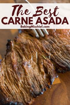 This easy carne asada recipe will make the best homemade carne asada you've ever. - This easy carne asada recipe will make the best homemade carne asada you've ever eaten. Authentic Mexican Recipes, Mexican Food Recipes, Mexican Desserts, Mexican Cooking, Recipes Dinner, Beef Recipes, Cooking Recipes, Flap Meat Recipes, Carne Asada Recipes Easy