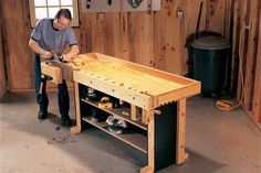 Tom's Torsion Box Workbench This rock-solid workhorse is simply four easy-to-build 2×4-and-plywood boxes. By Tom Caspar Quick, cheap, solid. You can't ask much more from a workbench, and this one delivers it all. Made of out nothing more than ordinary construction lumber, this durable, 250-lb. heavyweight has all the features of a master cabinetmaker's bench: a gigantic face vise, a slick tail vise and a rock-solid base. You'll spend a …
