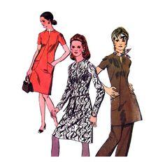 Womens Dress Tunic & Pants Pattern by finickypatternshop on Etsy, $10.75